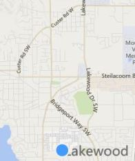 clip of map of Lakewood WA, from Bing Maps