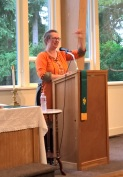 Katherine Parker speaking at Tracyton UMC